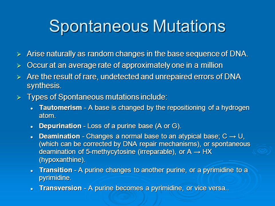 Spontaneous Mutations