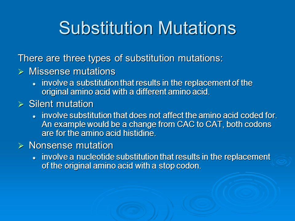 Substitution Mutations