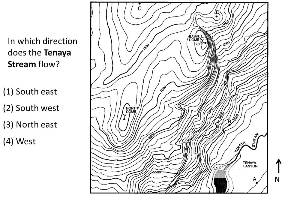 In which direction does the Tenaya Stream flow