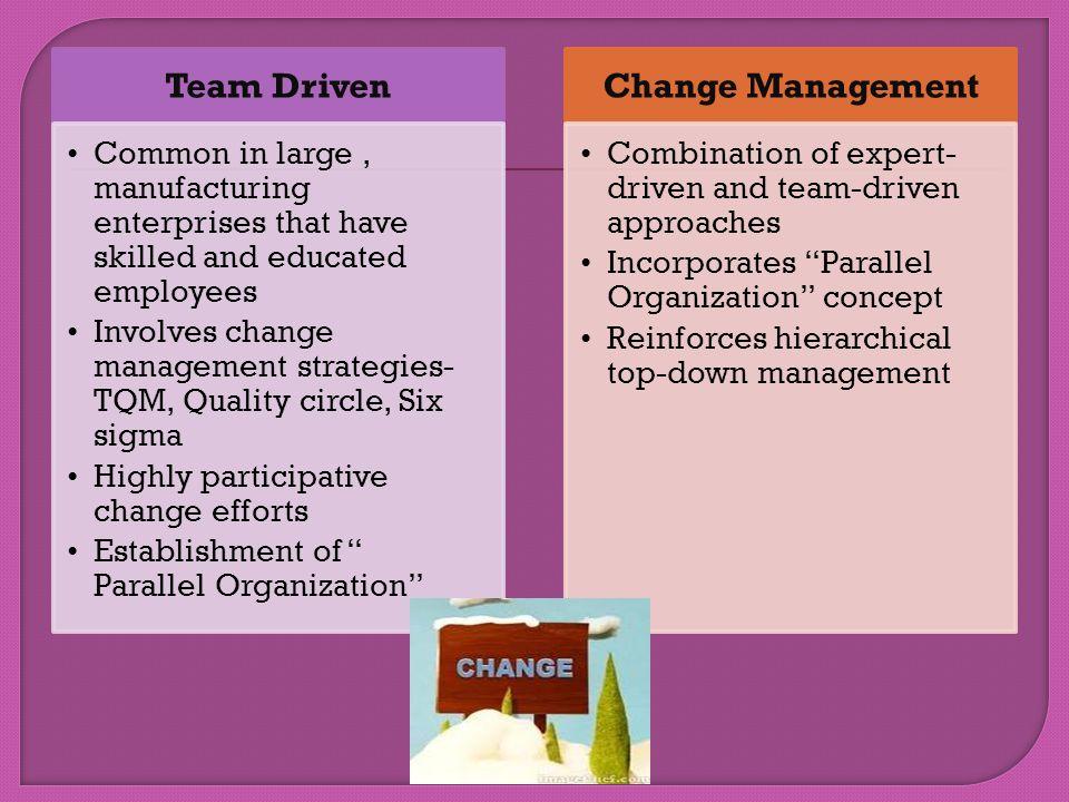 Team Driven Change Management