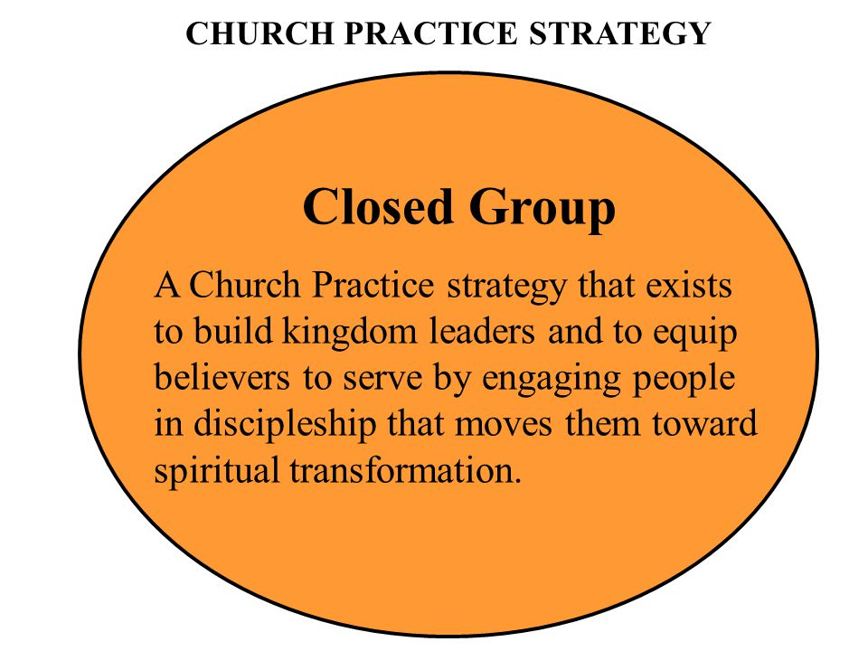 CHURCH PRACTICE STRATEGY