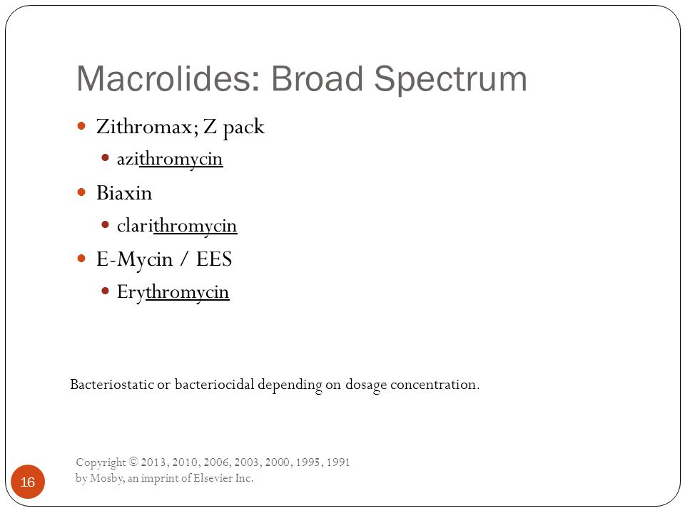 Macrolides: Broad Spectrum