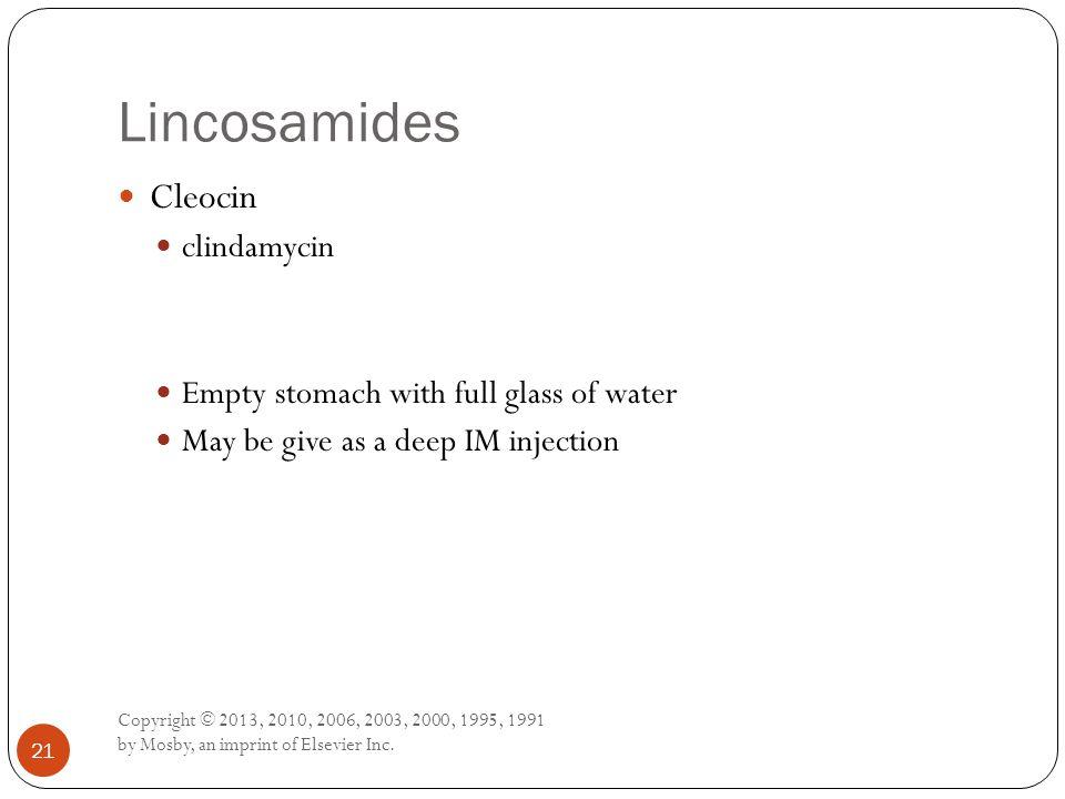 Lincosamides Cleocin clindamycin