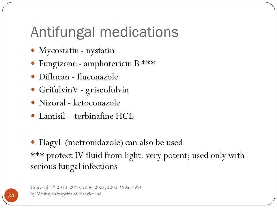 Antifungal medications