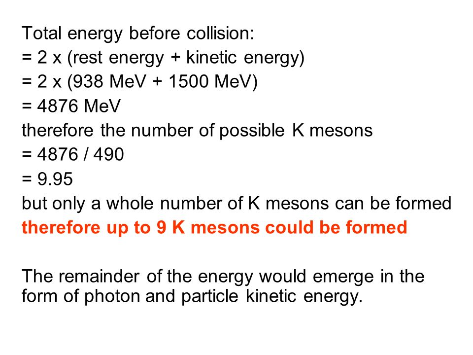 Total energy before collision: