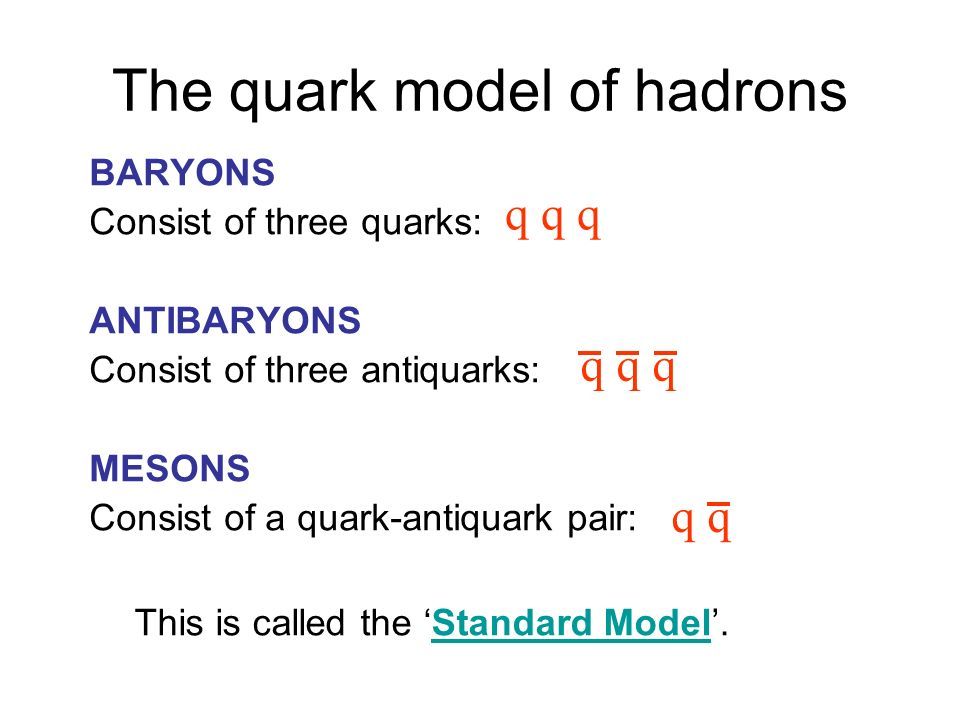 The quark model of hadrons