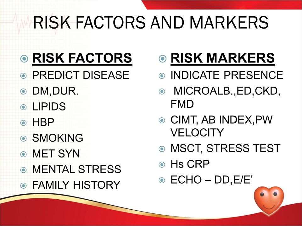 RISK FACTORS AND MARKERS
