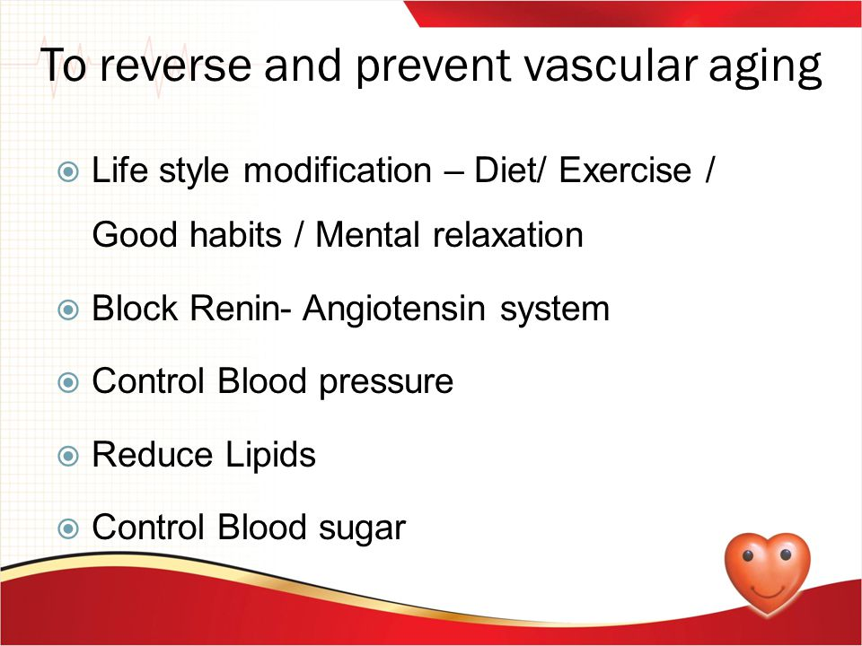 To reverse and prevent vascular aging