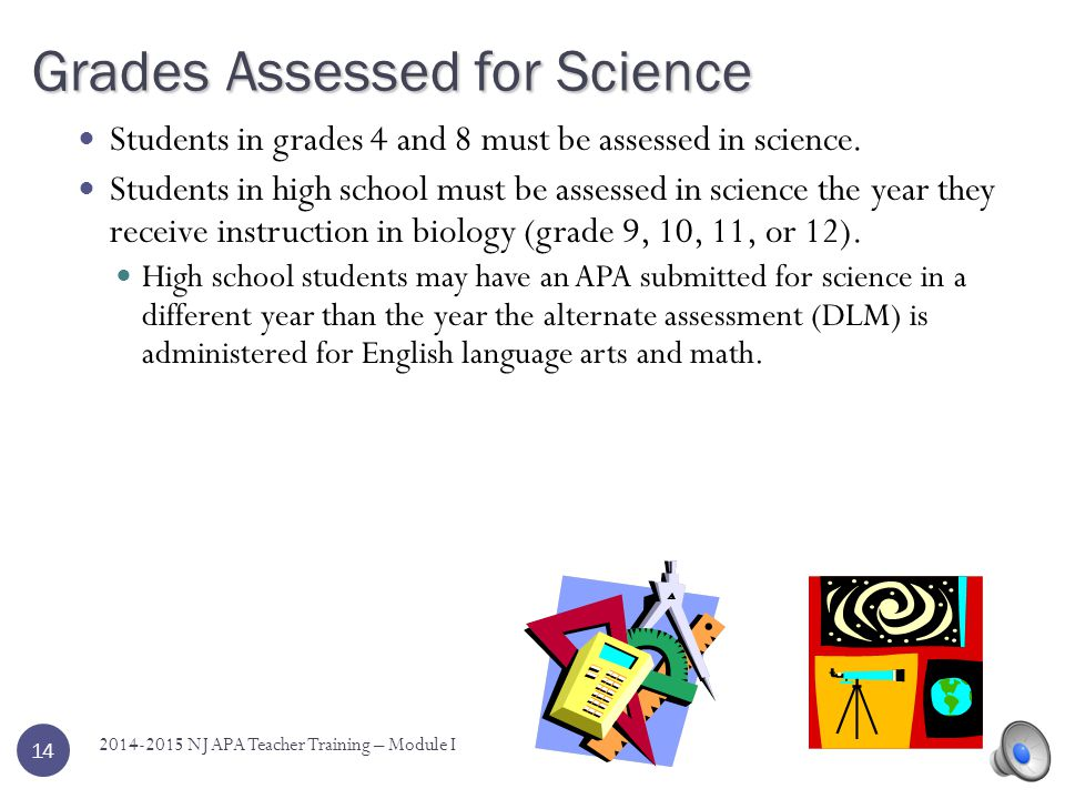 Grades Assessed for Science