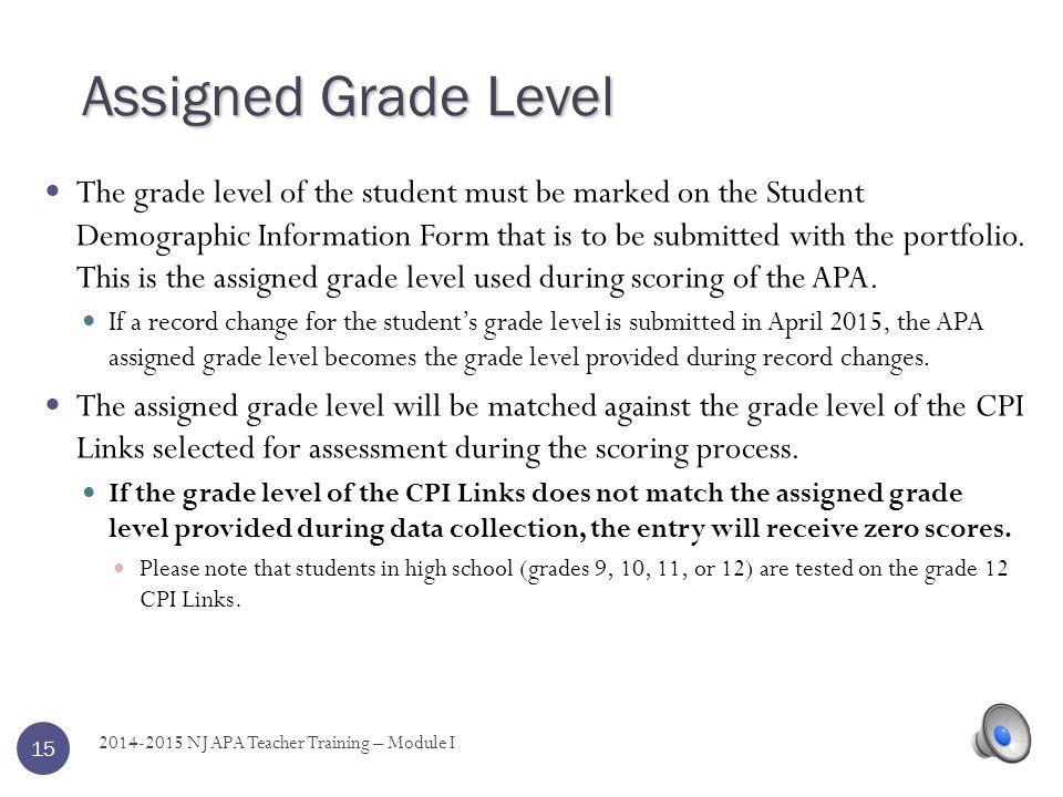 Assigned Grade Level
