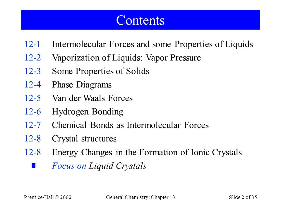 General Chemistry: Chapter 13