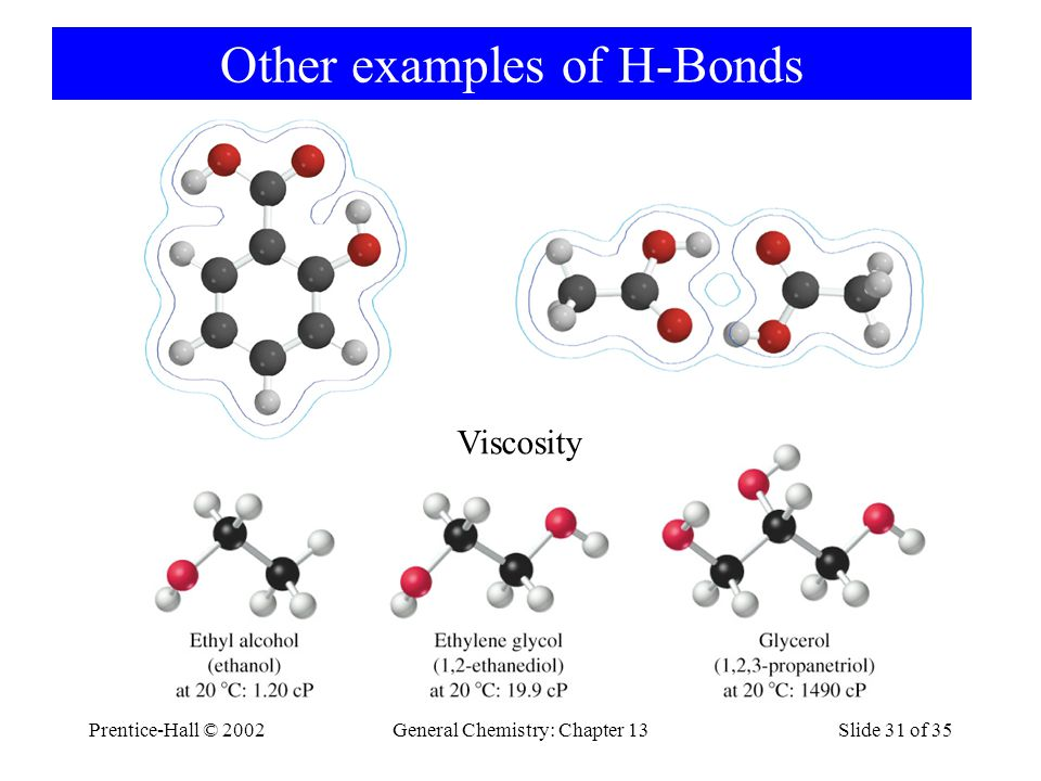 Other examples of H-Bonds