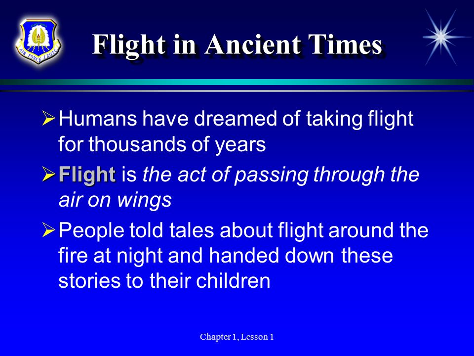 Flight in Ancient Times