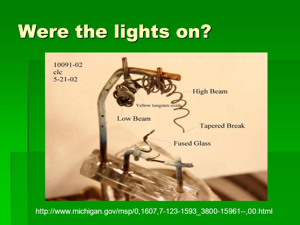 Were the lights on http://www.michigan.gov/msp/0,1607,7-123-1593_3800-15961--,00.html
