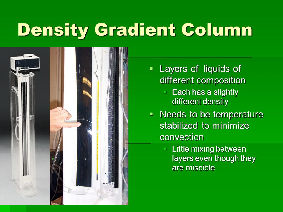 Density Gradient Column