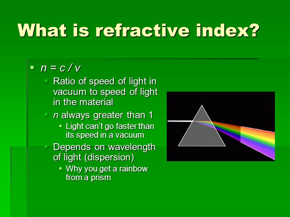 What is refractive index