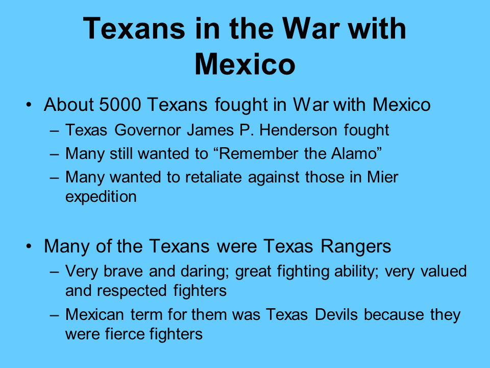 Texans in the War with Mexico