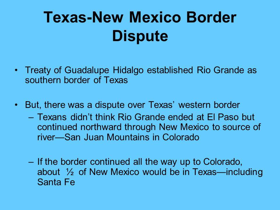 Texas-New Mexico Border Dispute