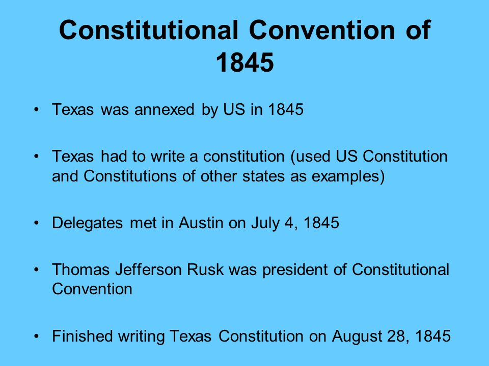 Constitutional Convention of 1845