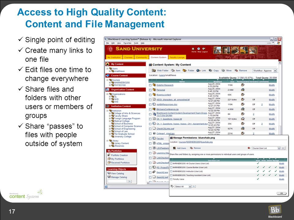 Access to High Quality Content: Content and File Management