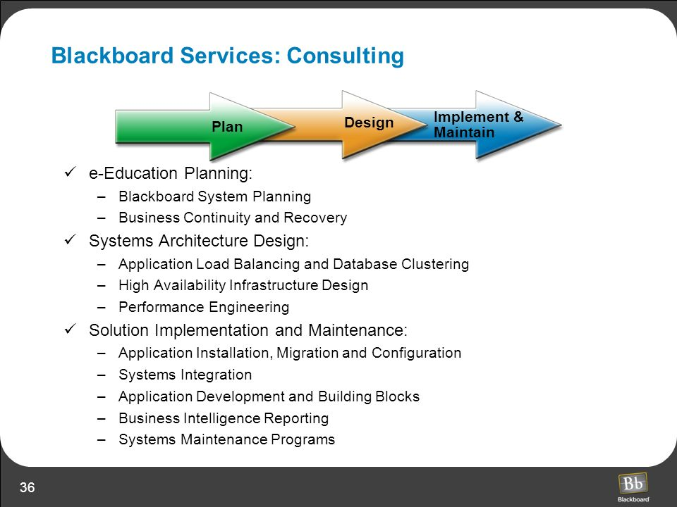 Blackboard Services: Consulting