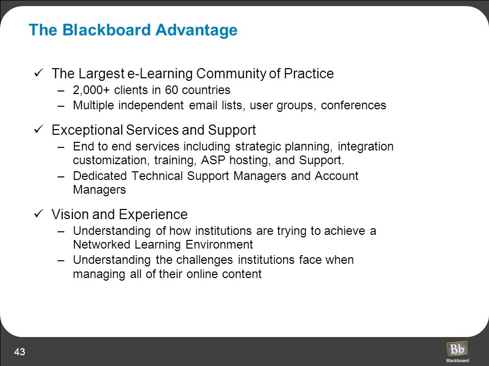The Blackboard Advantage