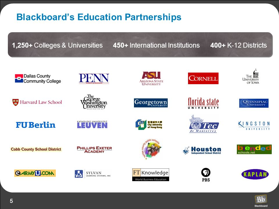 Blackboard's Education Partnerships