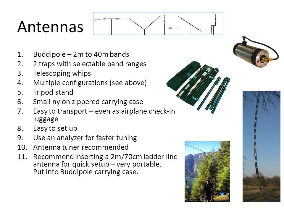Antennas Buddipole – 2m to 40m bands