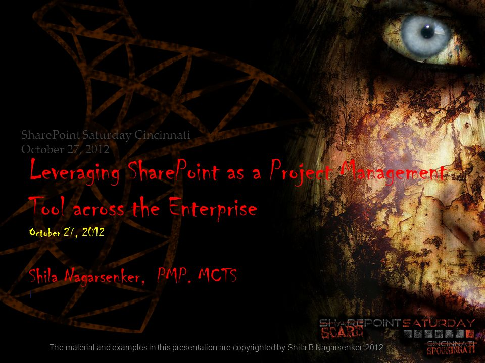 Leveraging SharePoint as a Project Management Tool across the Enterprise October 27, 2012 Shila Nagarsenker, PMP. MCTS I