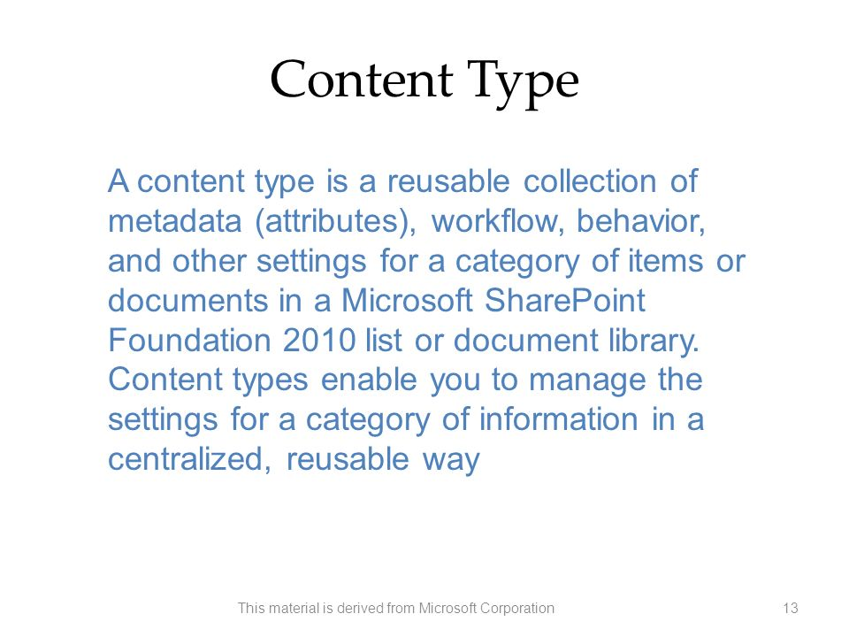 This material is derived from Microsoft Corporation