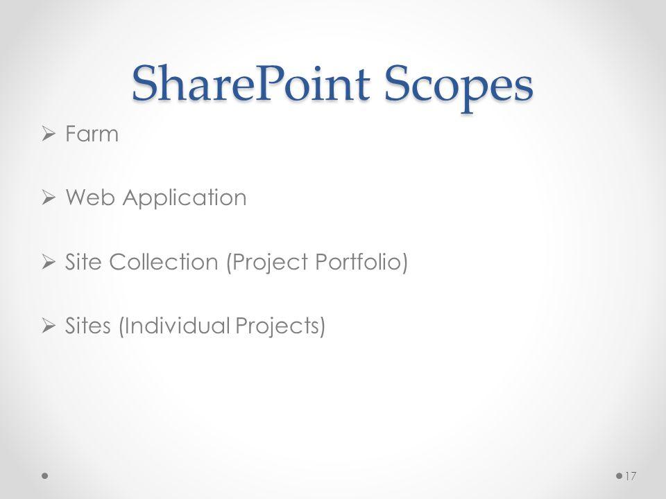 SharePoint Scopes Farm Web Application