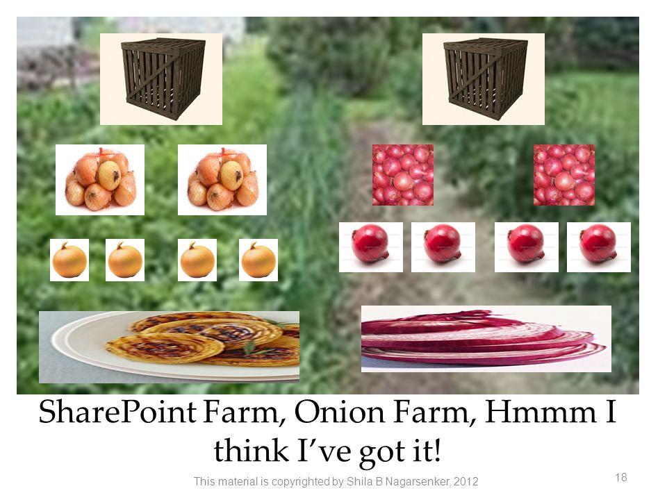 SharePoint Farm, Onion Farm, Hmmm I think I've got it!