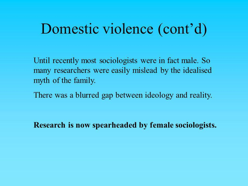 Domestic violence (cont'd)