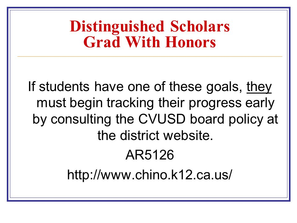 Distinguished Scholars Grad With Honors