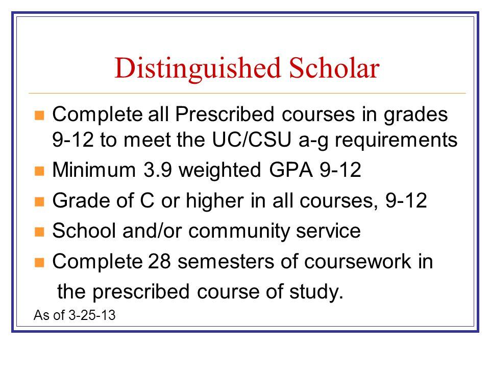 Distinguished Scholar