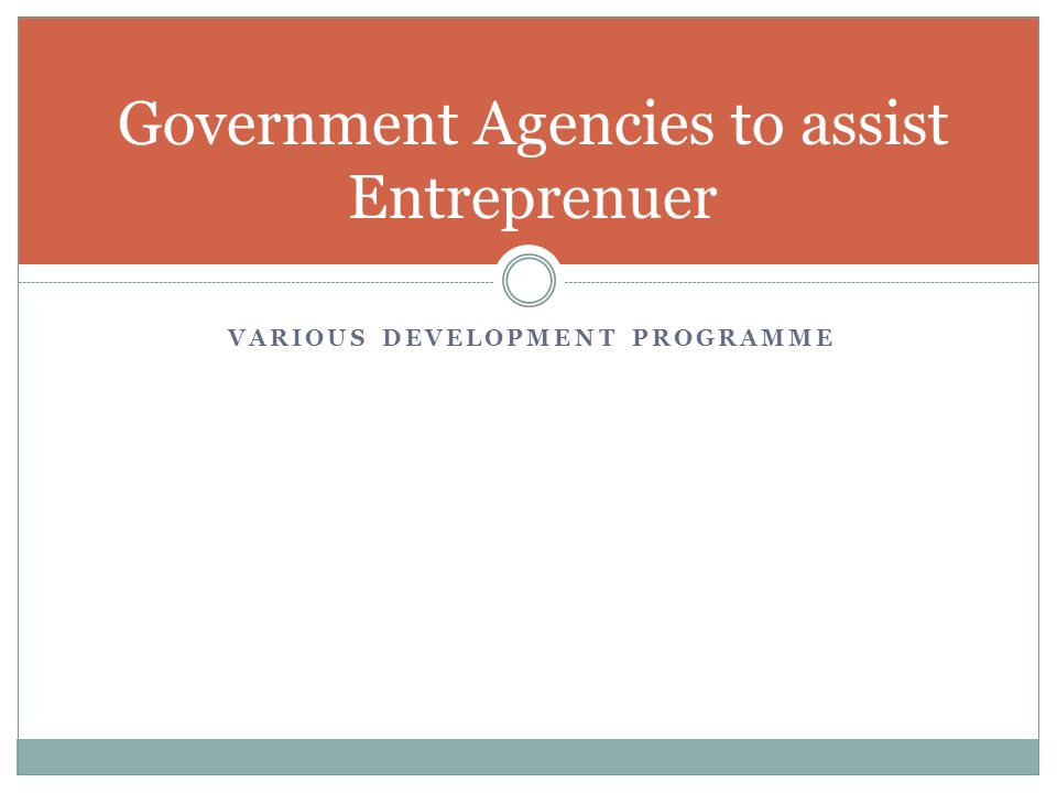 Government Agencies to assist Entreprenuer