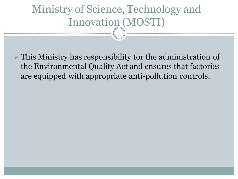 Ministry of Science, Technology and Innovation (MOSTI)