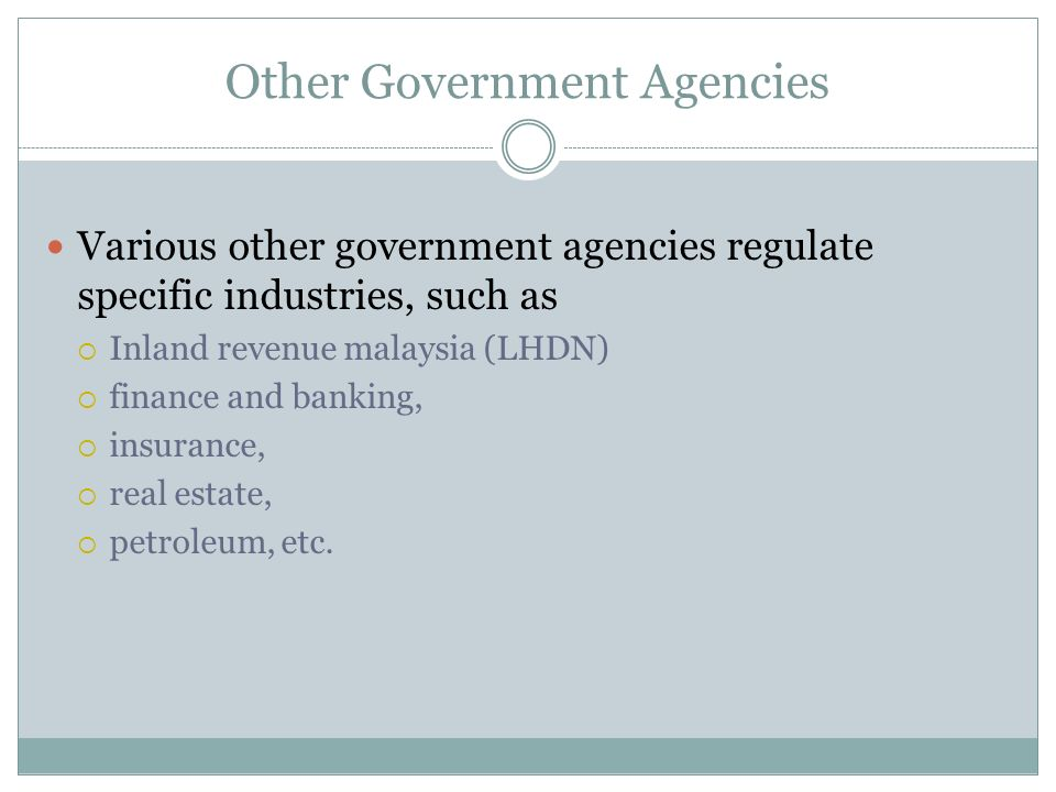 Other Government Agencies