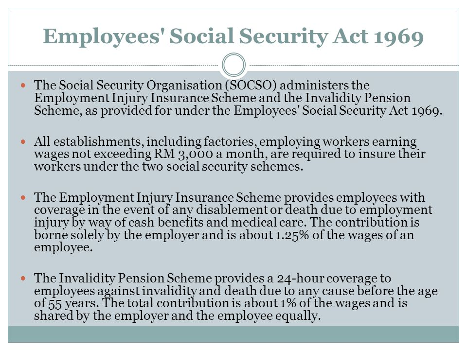 Employees Social Security Act 1969