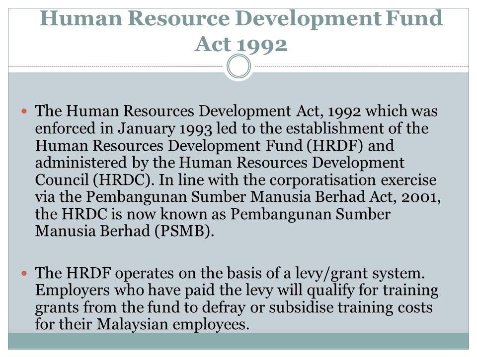 Human Resource Development Fund Act 1992