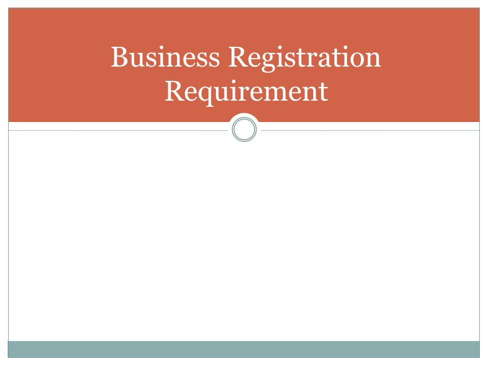 Business Registration Requirement