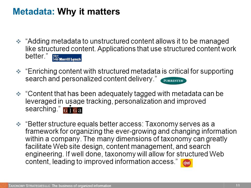Metadata: Why it matters