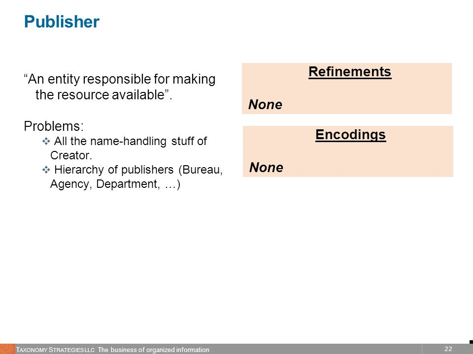 Publisher Refinements None Encodings None