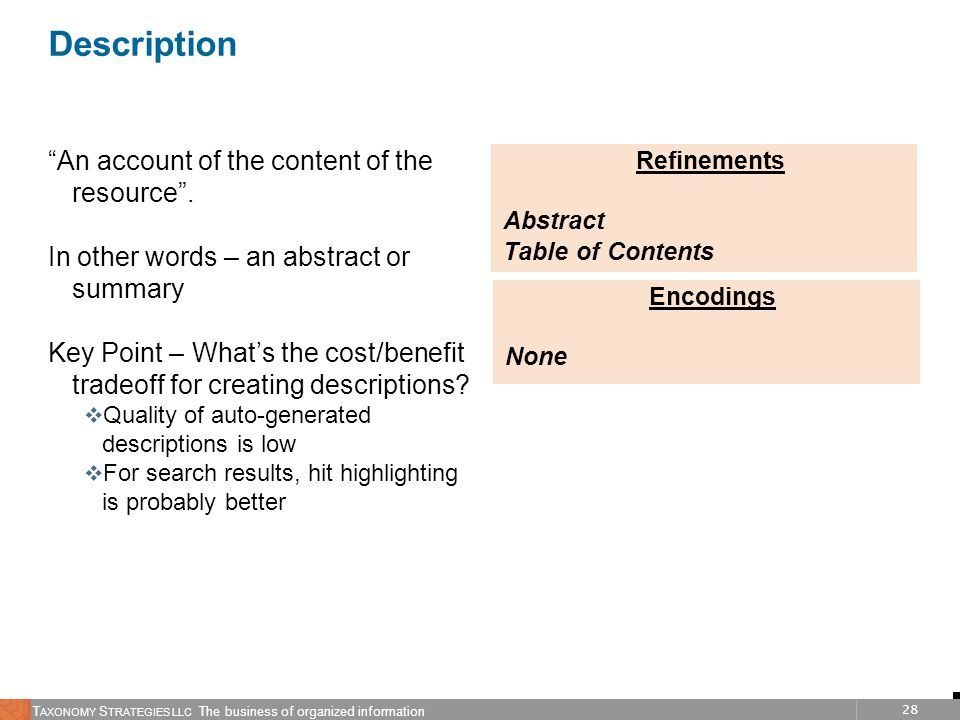 Refinements Abstract Table of Contents