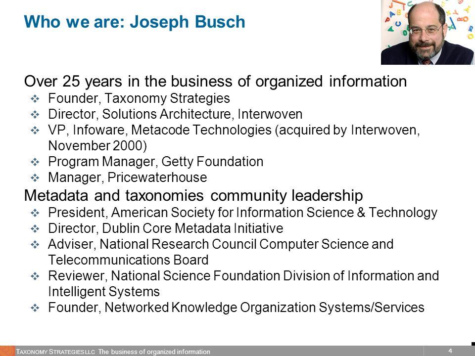 Who we are: Joseph Busch