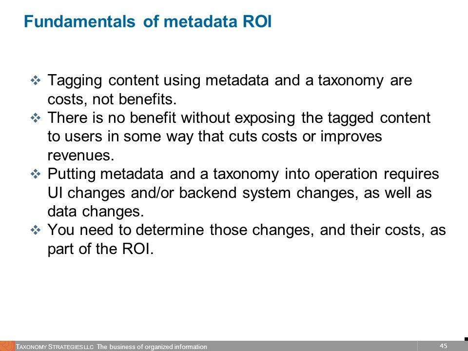 Fundamentals of metadata ROI