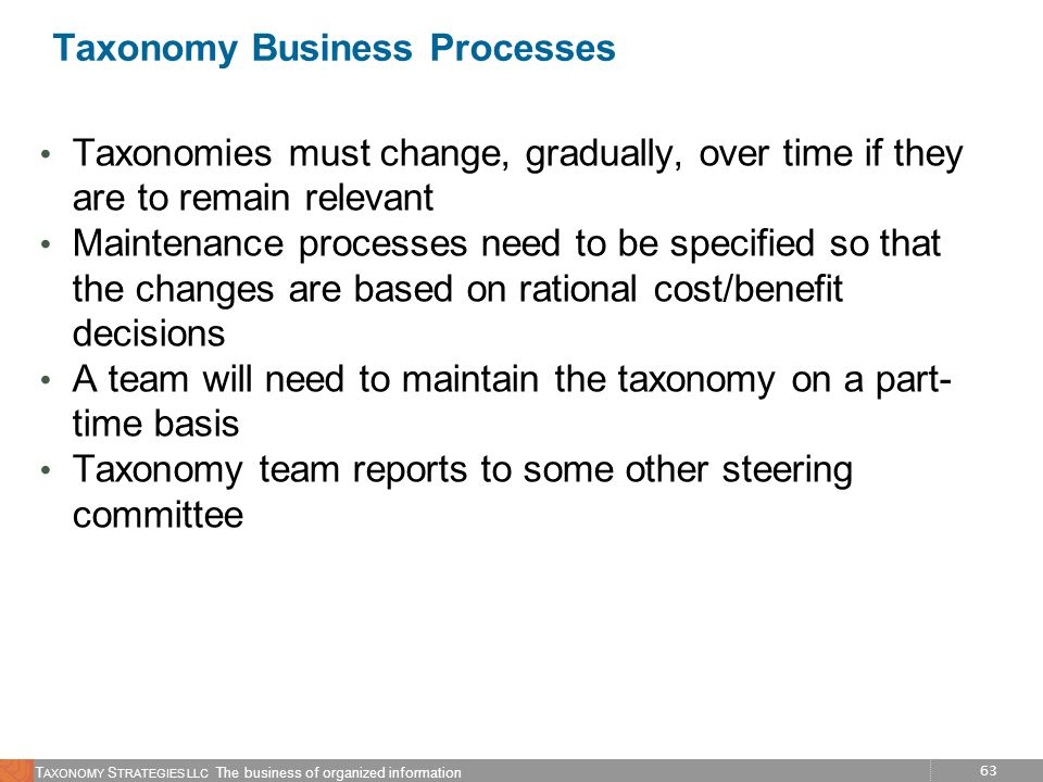 Taxonomy Business Processes