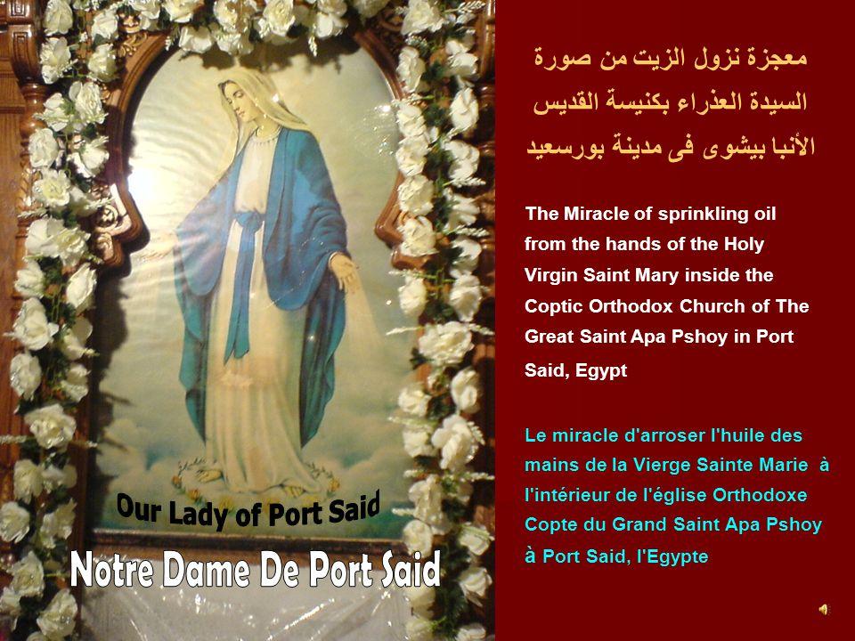 معجزة نزول الزيت من صورة السيدة العذراء بكنيسة القديس الأنبا بيشوى فى مدينة بورسعيد