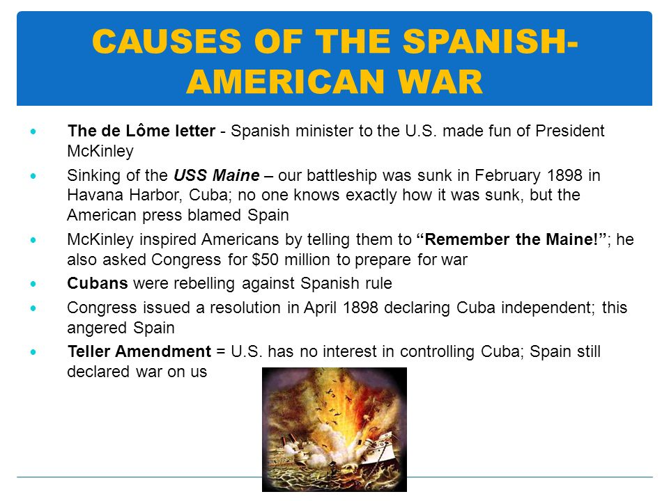 CAUSES OF THE SPANISH-AMERICAN WAR