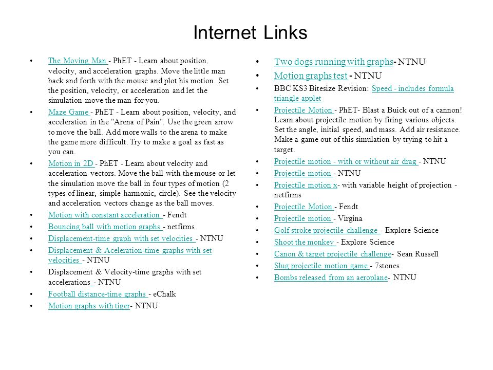 Internet Links Two dogs running with graphs- NTNU